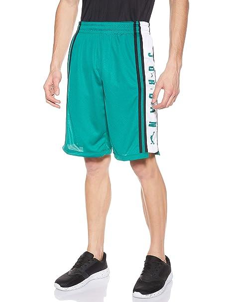 Nike HBR 340 - Pantalón Corto de Baloncesto, Color Verde, Blanco y ...