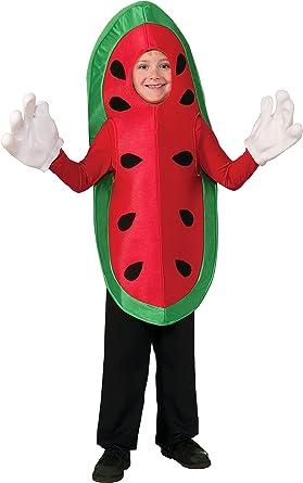 Red Watermelon Child Costume Fruit Kids Girls Boys Halloween Tunic New One Size