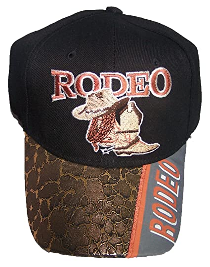 Hat   Boots Rodeo Cow Boy Baseball Caps Embroidered - Gold Visor (Rodeo73  ... fcf587444e8