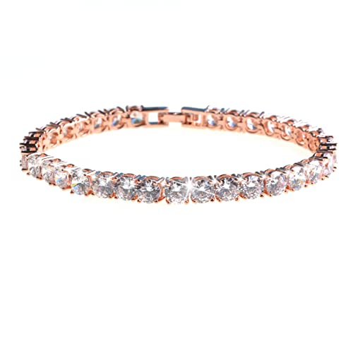 b49f75feadda Image Unavailable. Image not available for. Color  ASHMITA Tennis Crystal  Bracelet ...