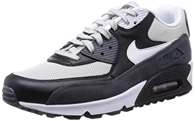 Nike Air Max 90 Essential 537384 037 Grey MistWhite Black Mens