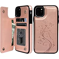SUPWALL Premium PU Leather Case with Card Holder for 5.8