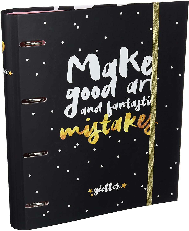 Grupo Erik Editores Glitter Stars - Carpeta con 4 anillas troquelada, 32 x 27.5 cm: Amazon.es: Oficina y papelería