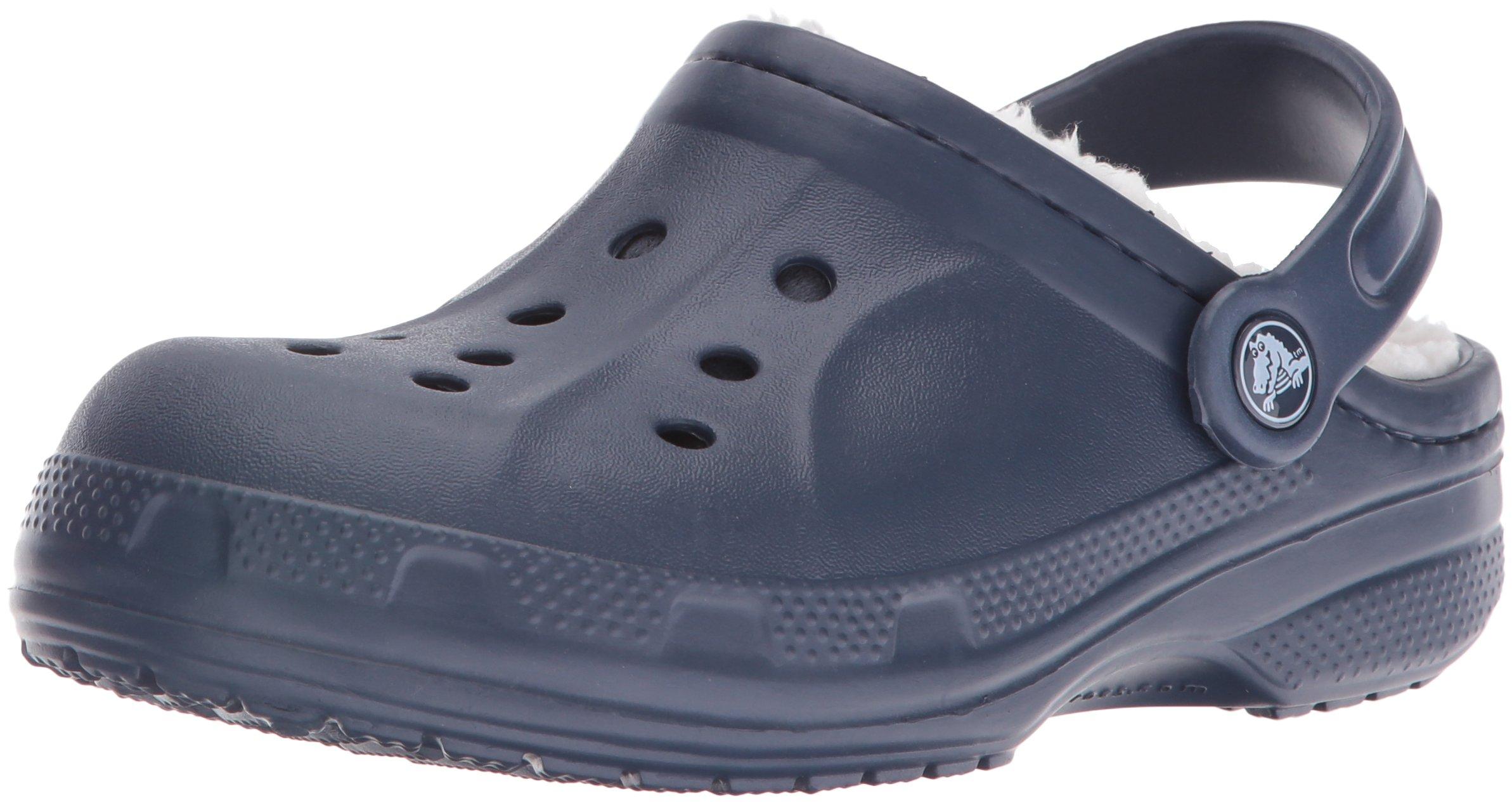 crocs Winter Clog (Toddler/Little Kid), Navy/Oatmeal, 3 M US Little Kid by Crocs