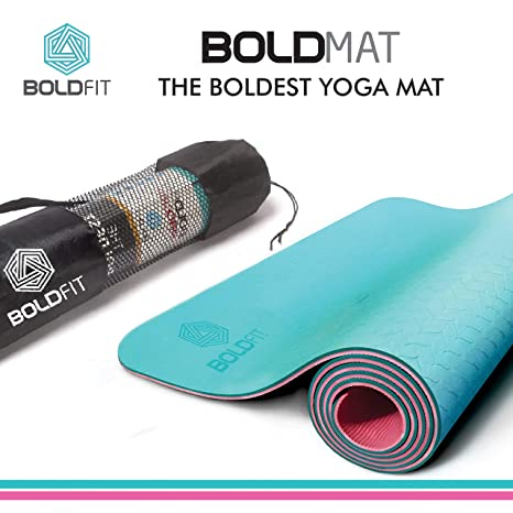 Buy BOLDFIT 6 mm TPE Extra Cushion Thick Exercise Mat with with ... 7f40c0902