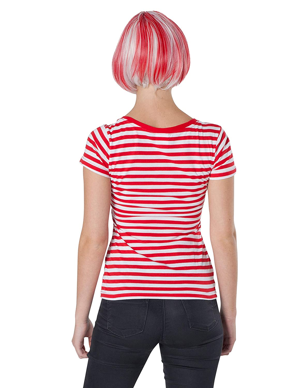 367d9dd01ea87a Deiters Lady-Ringelshirt Kurzarm rot weiß XXL (2XL)  Amazon.de  Spielzeug