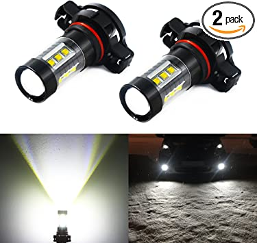 Pack of 2 H7 LED Fog Light Bulb 6000K Xenon White 33 SMD DRL CREE LED Replacement Driving Lights 1800 Lumens Super Bright