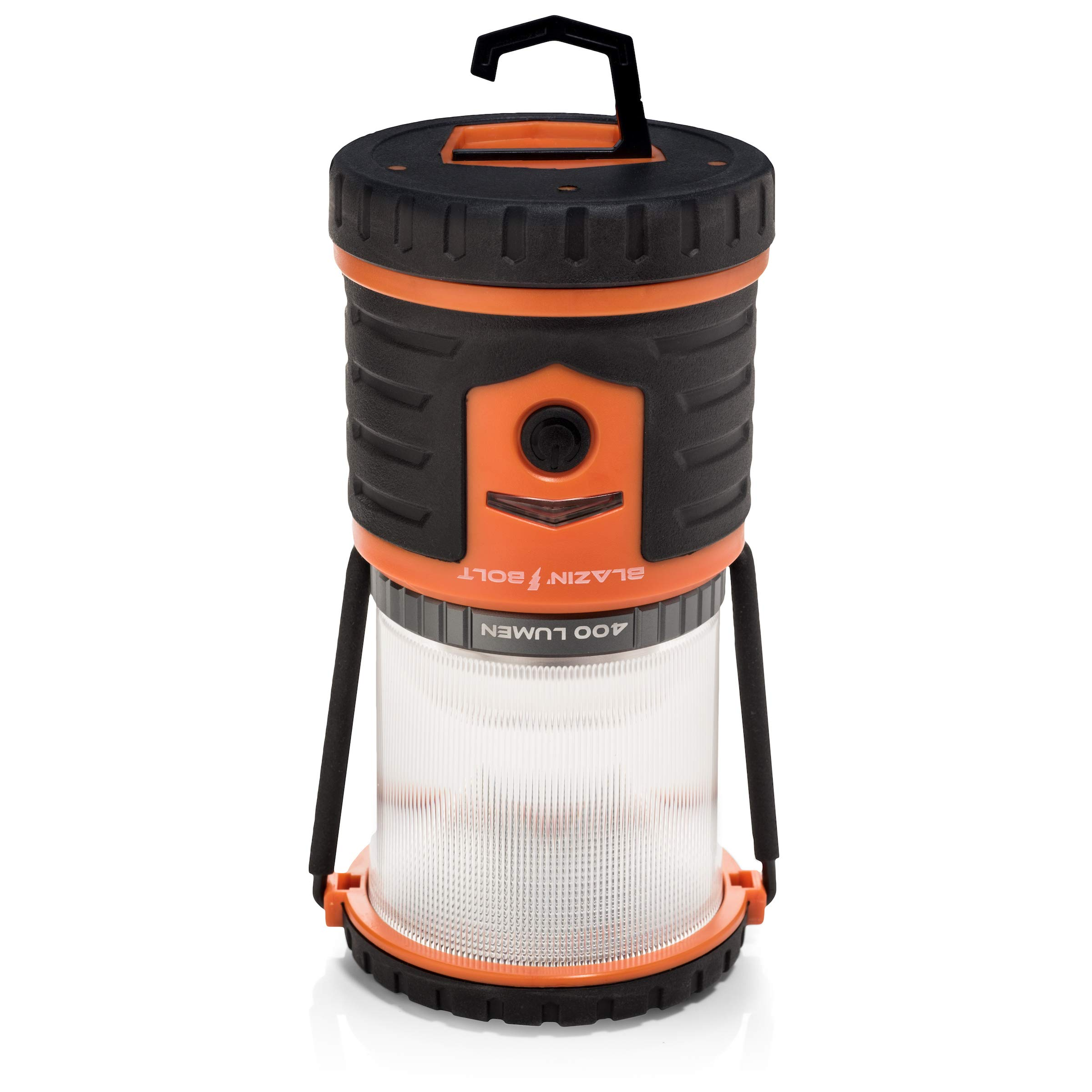 Brightest Rechargeable Lantern LED | Hurricane, Blackout, Storm | Power Bank Light | 400 Hour Runtime (Orange) by Blazin' Bison (Image #4)