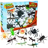 Nature Bound Toys Bugs & Critters Boxed Set with Toy Insect & Animal Figurines (10 Piece), Large