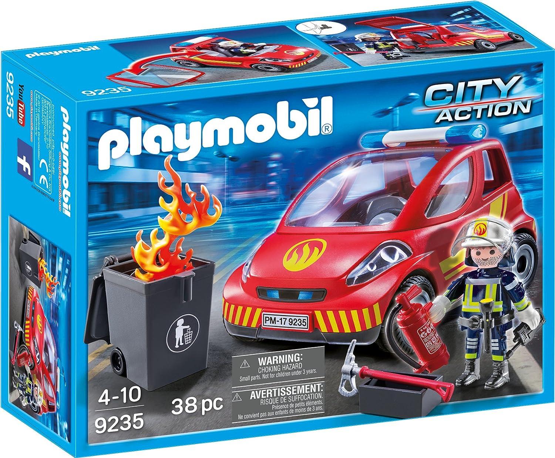 PLAYMOBIL Bomberos- Coche, única (9235)
