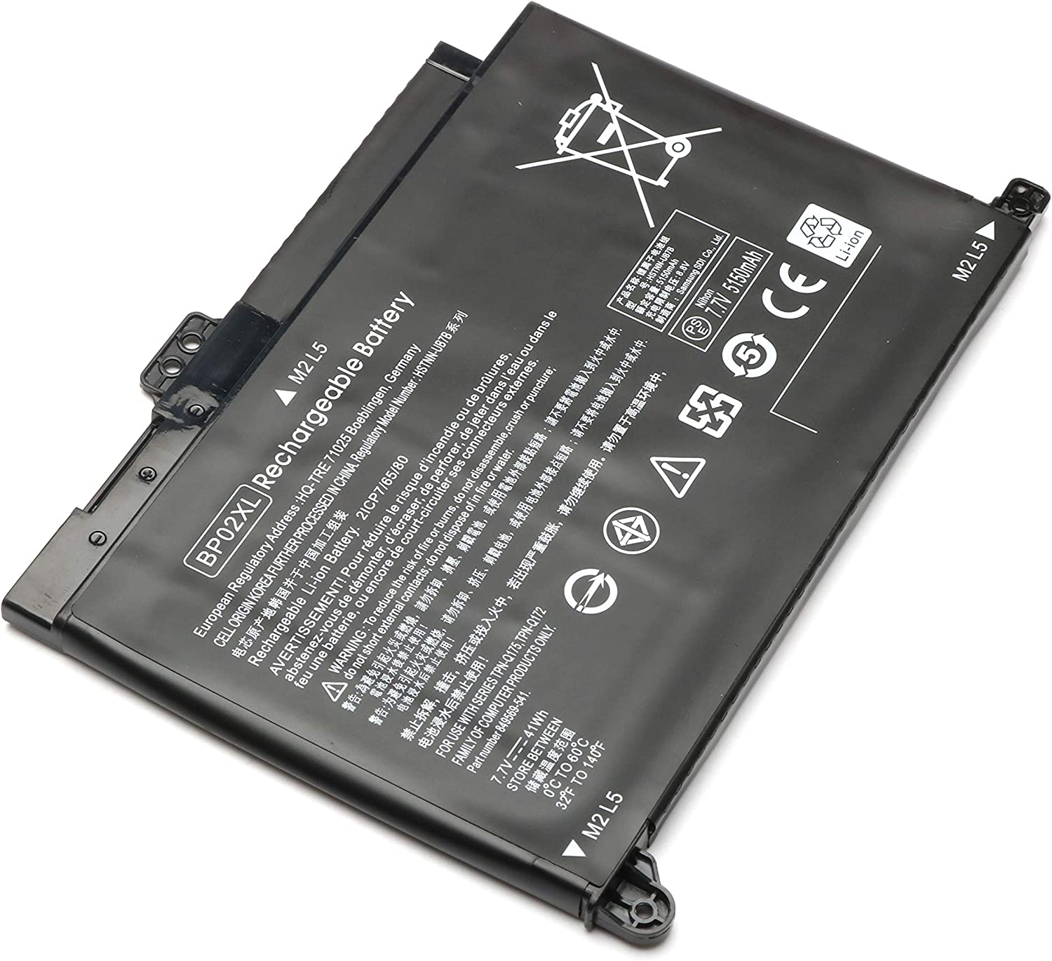 BP02XL Battery Compatible for HP Pavilion 15-AU000 15-AU010WM 15-AU123CL 15-AU018WM 15-AU020WM 15-AW053NR 15-AU062NR 849569-541 849909-850 7.7V 41Wh Notebook Battery