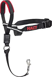 Company of Animals Halti Optifit Headcollar for Dogs, Black/Red, Large