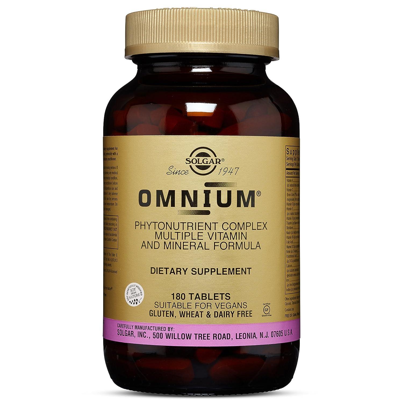 Solgar Omnium Phytonutrient Complex Multiple Vitamin Mineral Formula, 180 Tablets