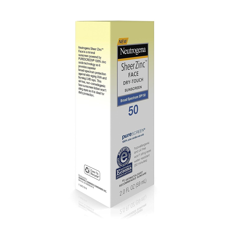 amazon com neutrogena sheer zinc face dry touch sunscreen broad