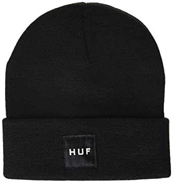 6a1eccf5c713 HUF Men's Box Logo Beanie, Black, O/S: Amazon.in: Clothing & Accessories