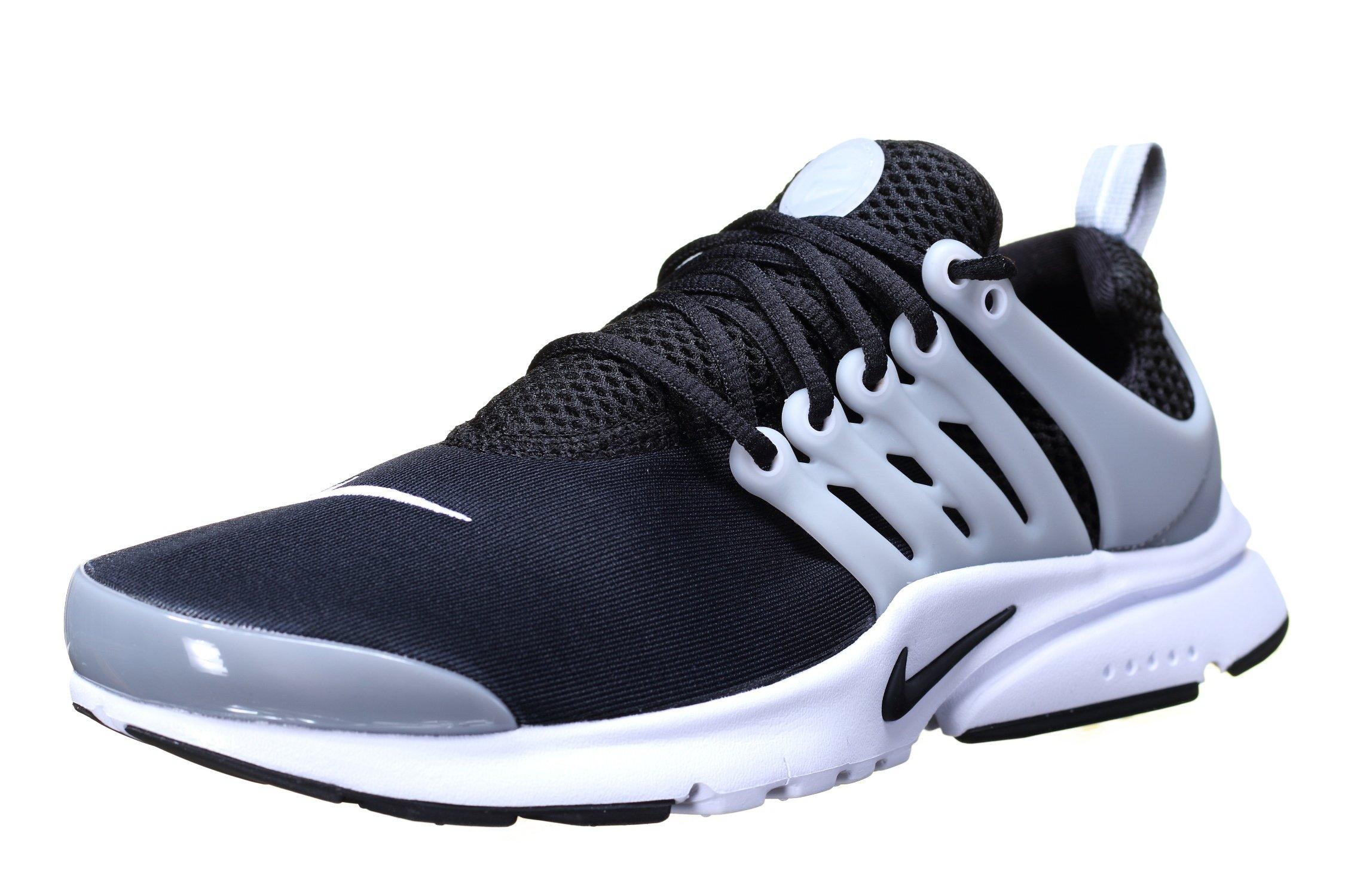 Nike Kids Presto (gs), BLACK/BLACK-WHITE-WOLF GREY, Youth Size 7 by NIKE