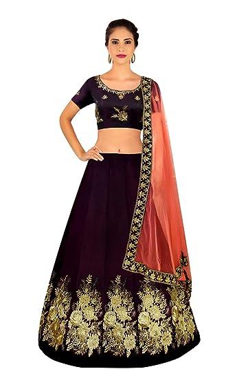 5206993fe Shree Impex Women s Embroidered Velvet Lehanga Choli Set (bukkey Lehenga01