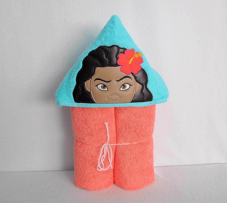 Tween Baby Hawaiian Princess Hooded Bath Towel Child