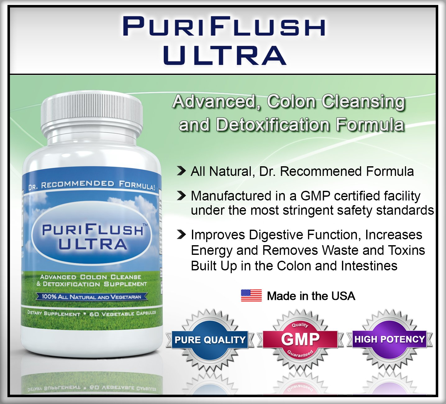 PURIFLUSH ULTRA The All Natural Complete Colon Cleansing