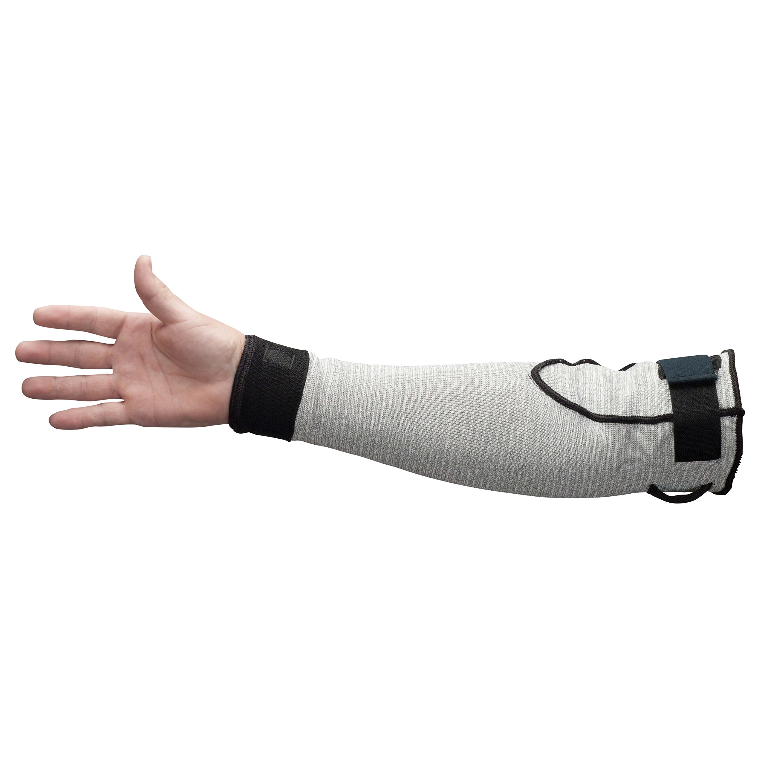 JACKSON SAFETY 90075 G60 Level 5 Cut Resistant Sleeves, 0.5'' Height, 11'' Length, 5'' Width, High molecular-weight polyethylene (HMPE) engineered yarn, 18'', Marled Gray (Pack of 24) by Jackson Safety (Image #1)