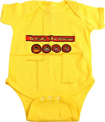 c26a88454 Amazon.com: Beatles, The - Baby Yellow Submarine Onesie: Clothing