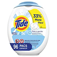 96-Count Tide Free and Gentle Laundry Detergent Pods Unscented
