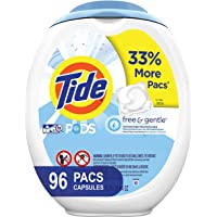 96-Count Tide Free and Gentle Laundry Detergent Pods, Unscented