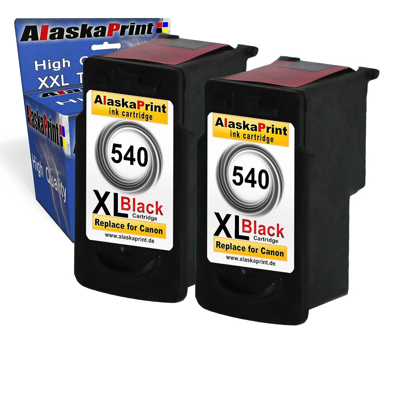 2x Remanufacturados para Canon PG-540XL / PG540XL Negro Cartuchos con Pixma MG2100 MG2150 MG2200 MG2250 MG3100 MG3150 MG3155 MG3200 MG3250 MG3500 ...
