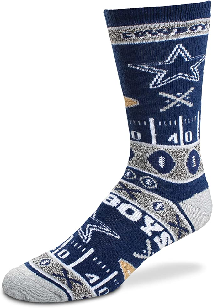 Dallas Cowboys For Bare Feet Super Fan Socks