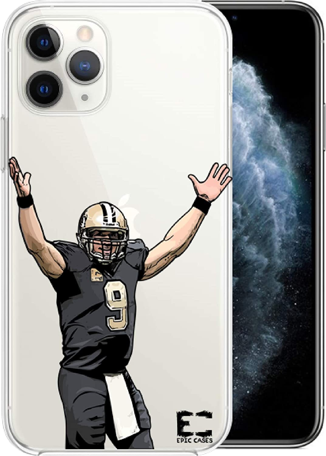 Epic Cases iPhone 6 Plus iPhone 7 iPhone 8 Plus Case Ultra Slim Crystal Clear Football Series Soft Transparent TPU Case Cover Apple (Breesus, iPhone 6/7/8 Plus)