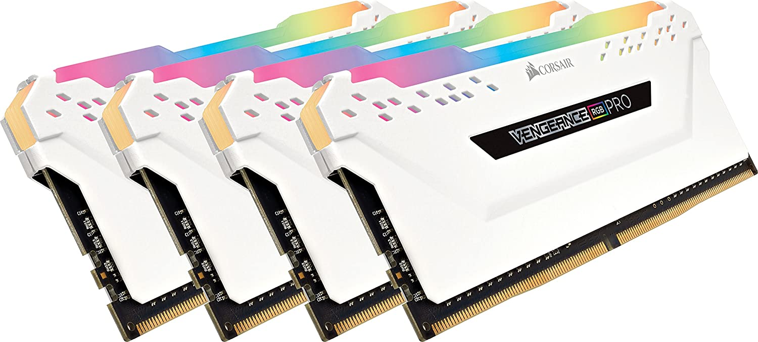 Corsiar Vengeance RGB Pro 32GB (4x8GB) DDR4 3600MHz C18 LED Desktop Memory - White