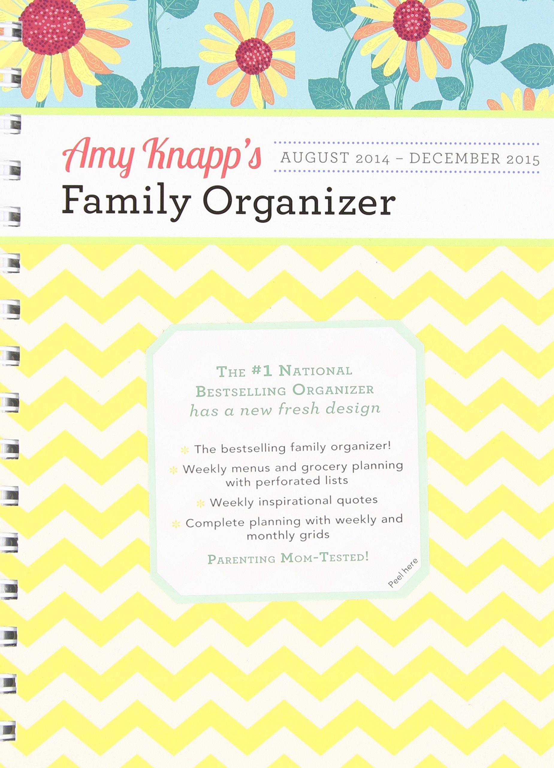 amazoncom 2015 amy knapp family organizer 0760789248405 amy knapp books