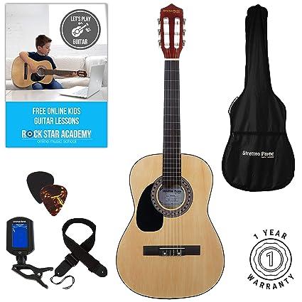 Guitarra acústica de mano izquierda, paquete de 3/4 tamaños (36 pulgadas)