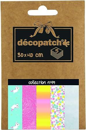 Pochette D/éco Pocket de 5 Feuilles D/écopatch Loisir cr/éatif DP016O 30 x 40 cm