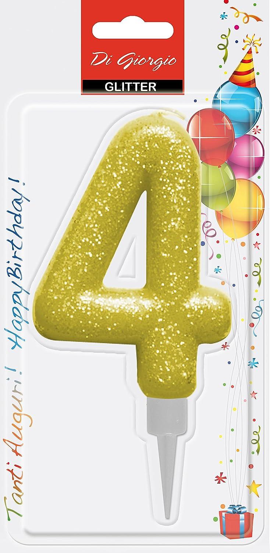 Amscan 9900764/7.6/cm glitter numero 3/candela di compleanno