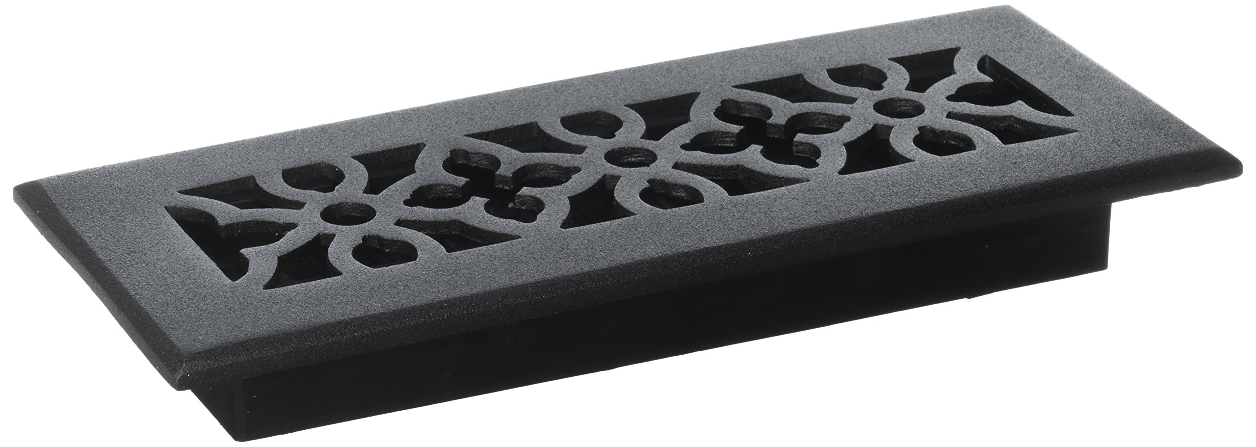 Decor Grates AGA310-BLK 3-Inch by 10-Inch Gothic Black Aluminum Floor Register