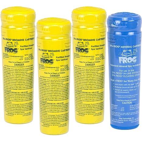 Spa Frog Sanitizer Cartridge Refill KIt: (3) Bromine + (1) Mineral