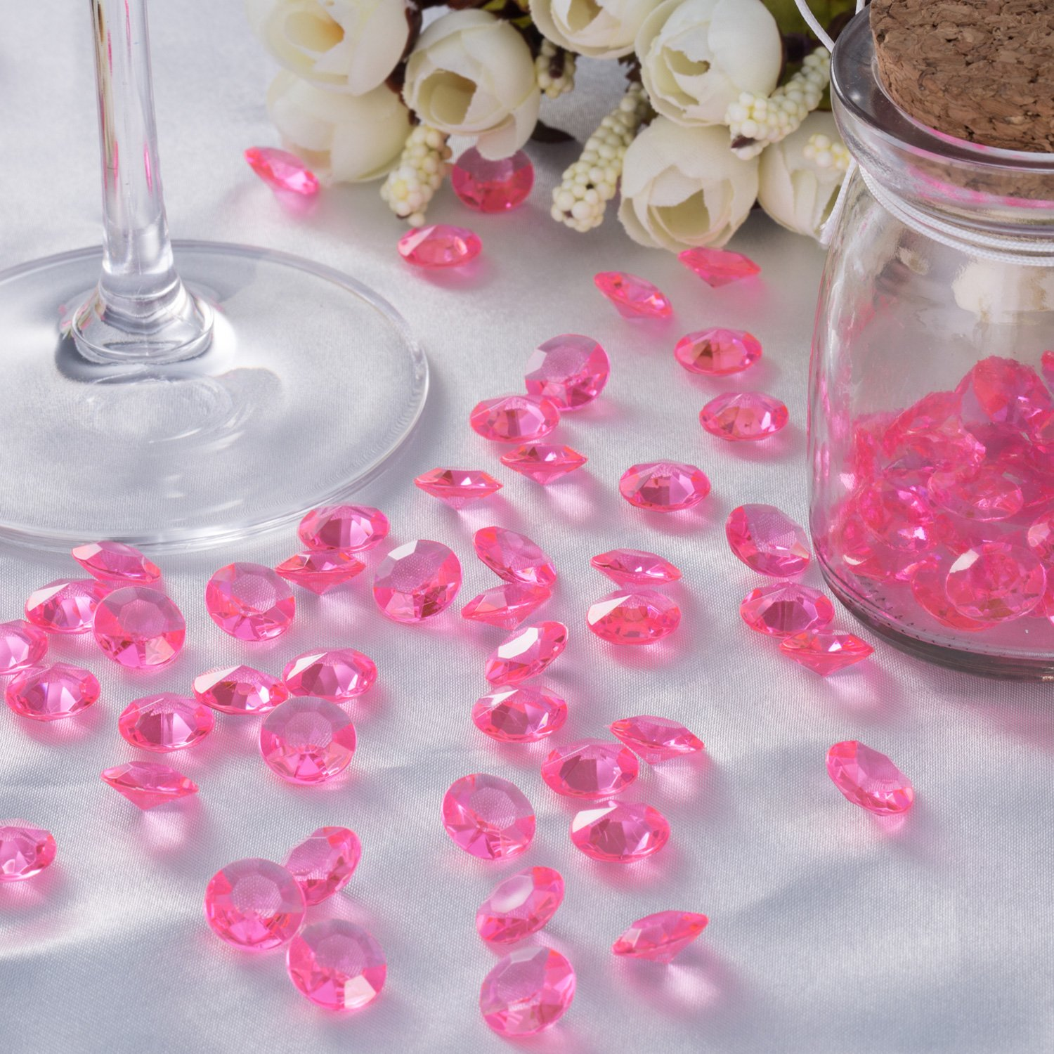 12 mm Acrylic Diamond Scatters 100 Pack for Table Centerpieces ...