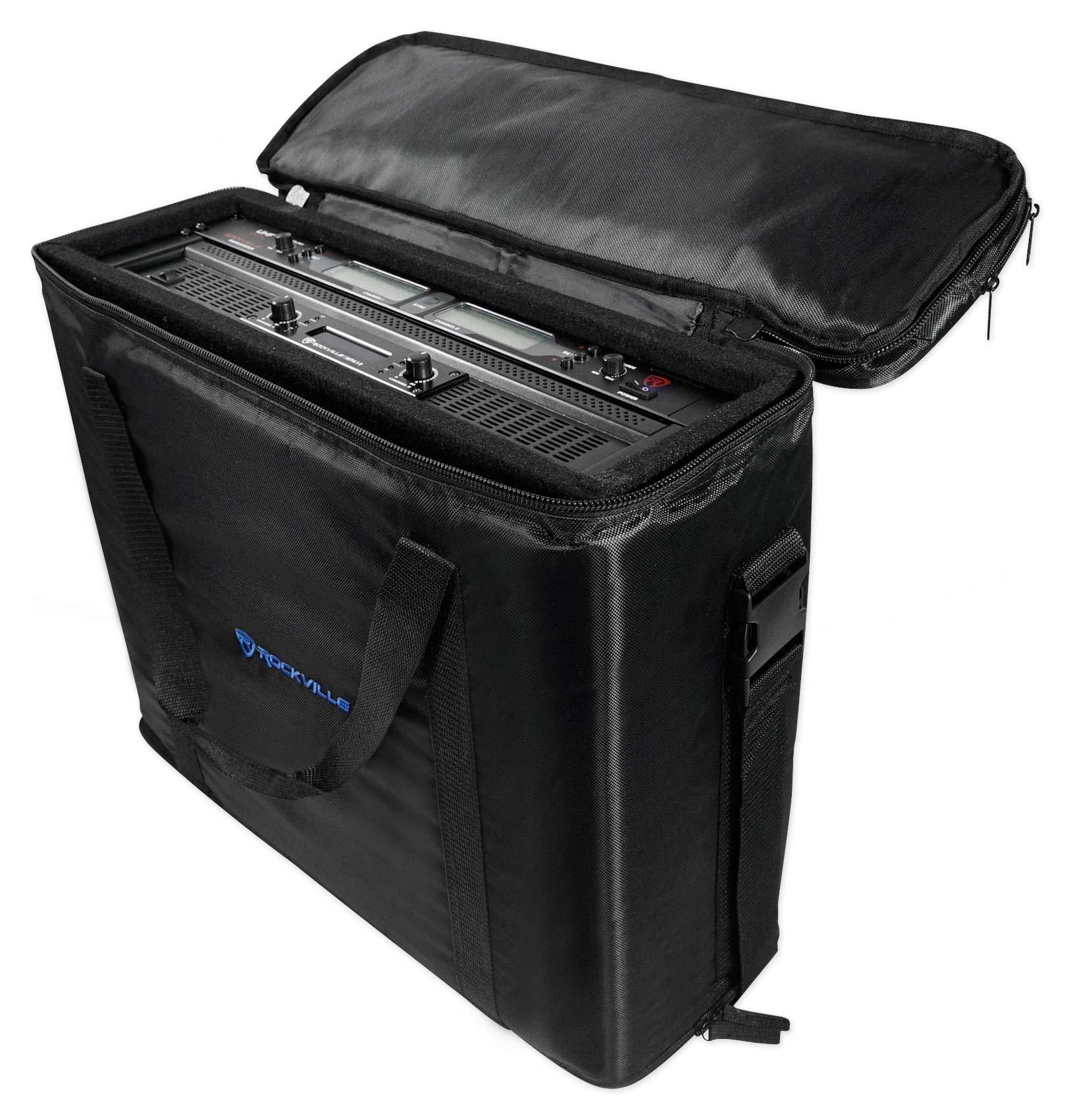 Rockville RRB35 3U Space Bag-Style Rack Case with Removable Rack+Shoulder Strap