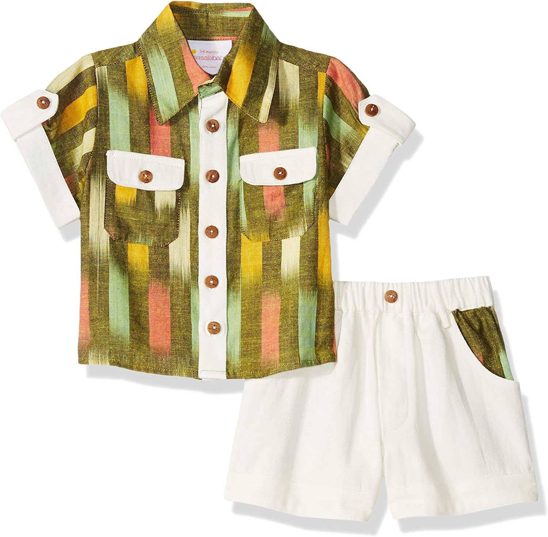 Masala Baby baby-boys Elegant Neat 2 Ikat Pc Set Free Shipping Cheap Bargain Gift Multi Band