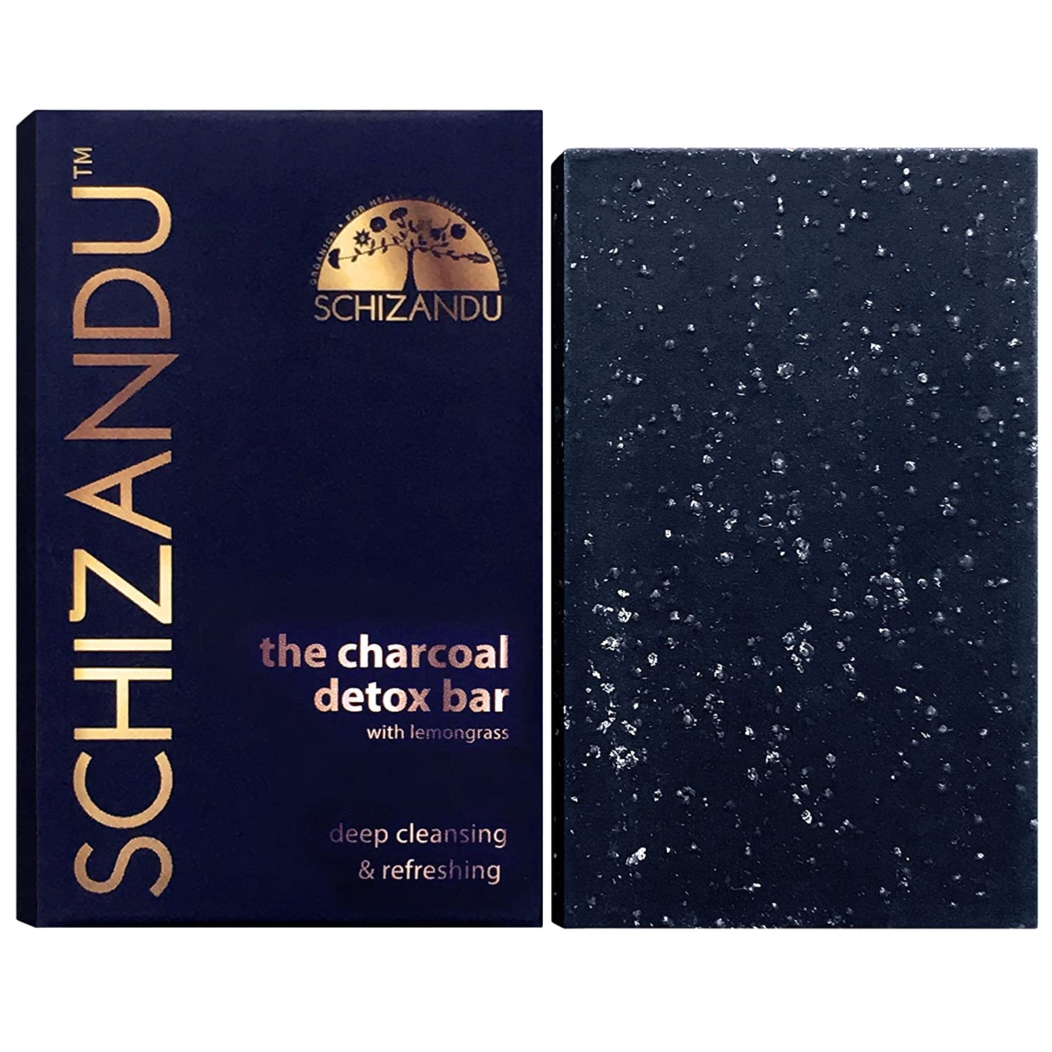 Charcoal Cleansing Bar Soap, Organic Herbal Skin Detox with Activated Charcoal, Natural Luxury For Facial and Body Detoxification, Moisturizing, Nourishing Beauty Bar, Vegan, Non GMO, 4 oz