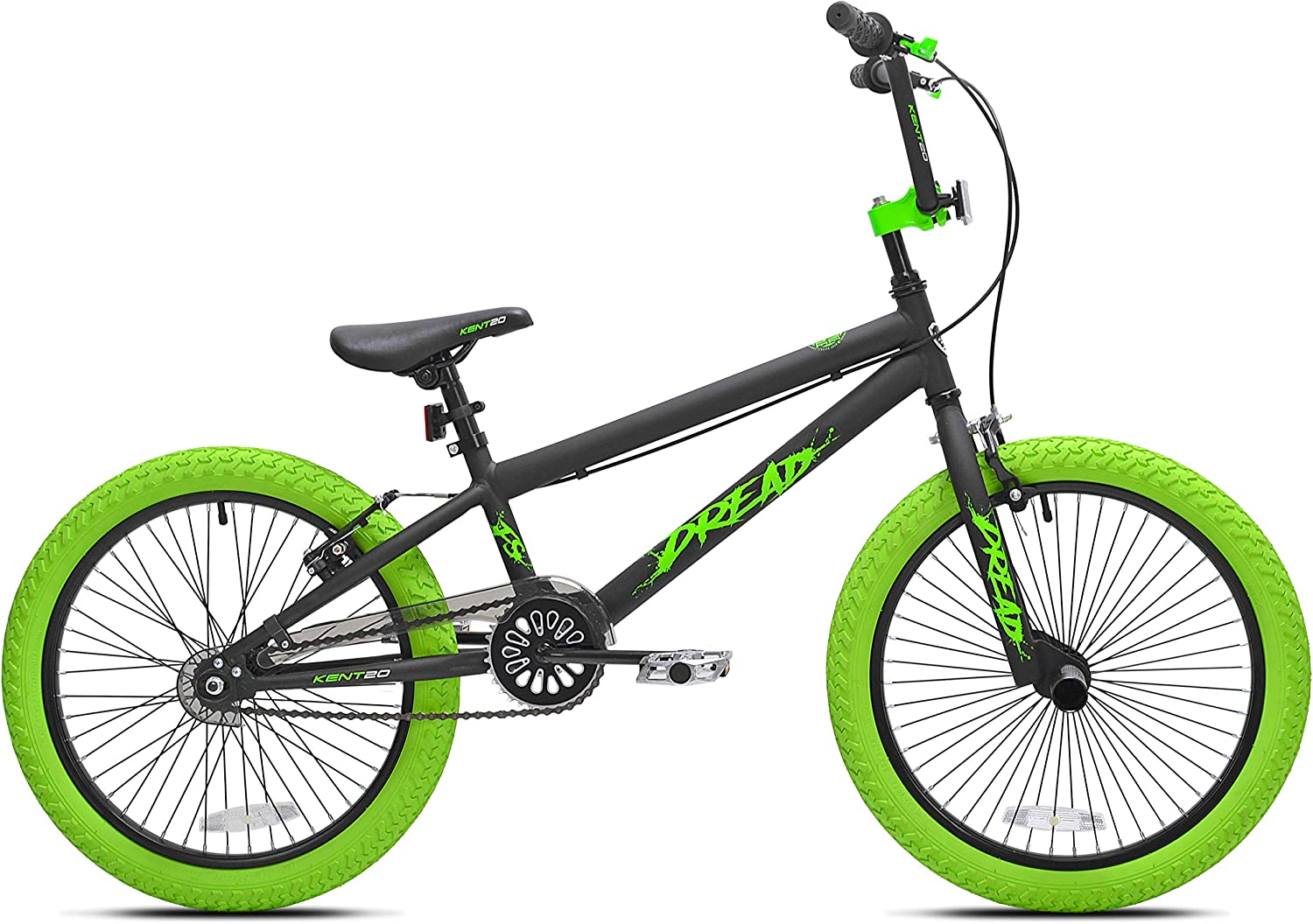 Offer an Amazingly Smooth,Stylish Ride for Kids with Sense of Adventure with Kent 20 Boys ,Dread BMX Bicycle,Green,for Ages 8-12,Exciting Gift Idea for Their Amazing Tricks