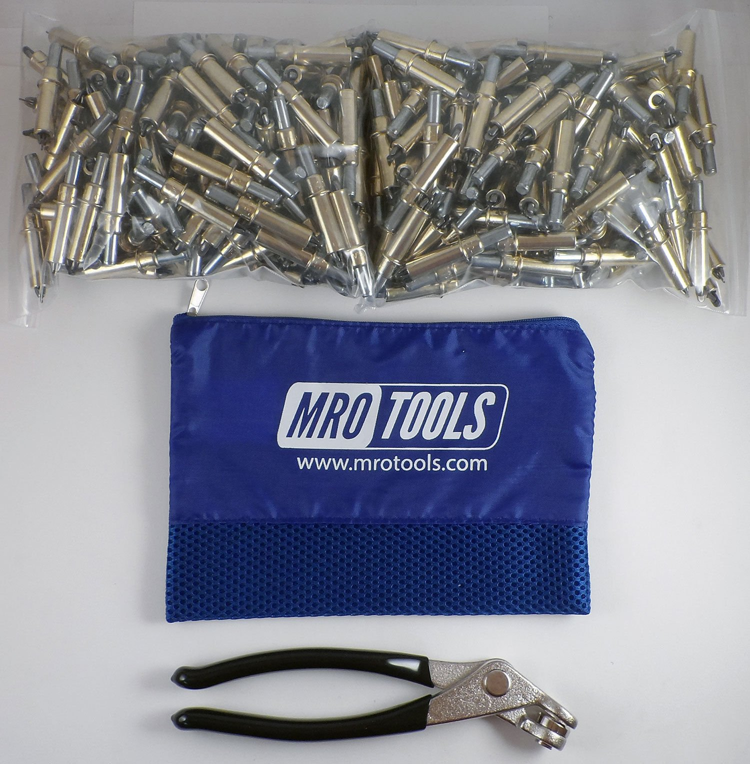 400 3/16 Cleco Sheet Metal Fasteners + Cleco Pliers w/Carry Bag (K1S400-3/16) by MRO Tools Cleco Fasteners