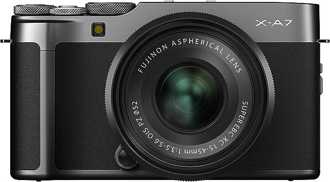 Amazon.com : Fujifilm X-A7 Mirrorless Digital Camera w/XC15-45mm F3.5-5.6 OIS PZ Lens, Dark Silver : Camera & Photo