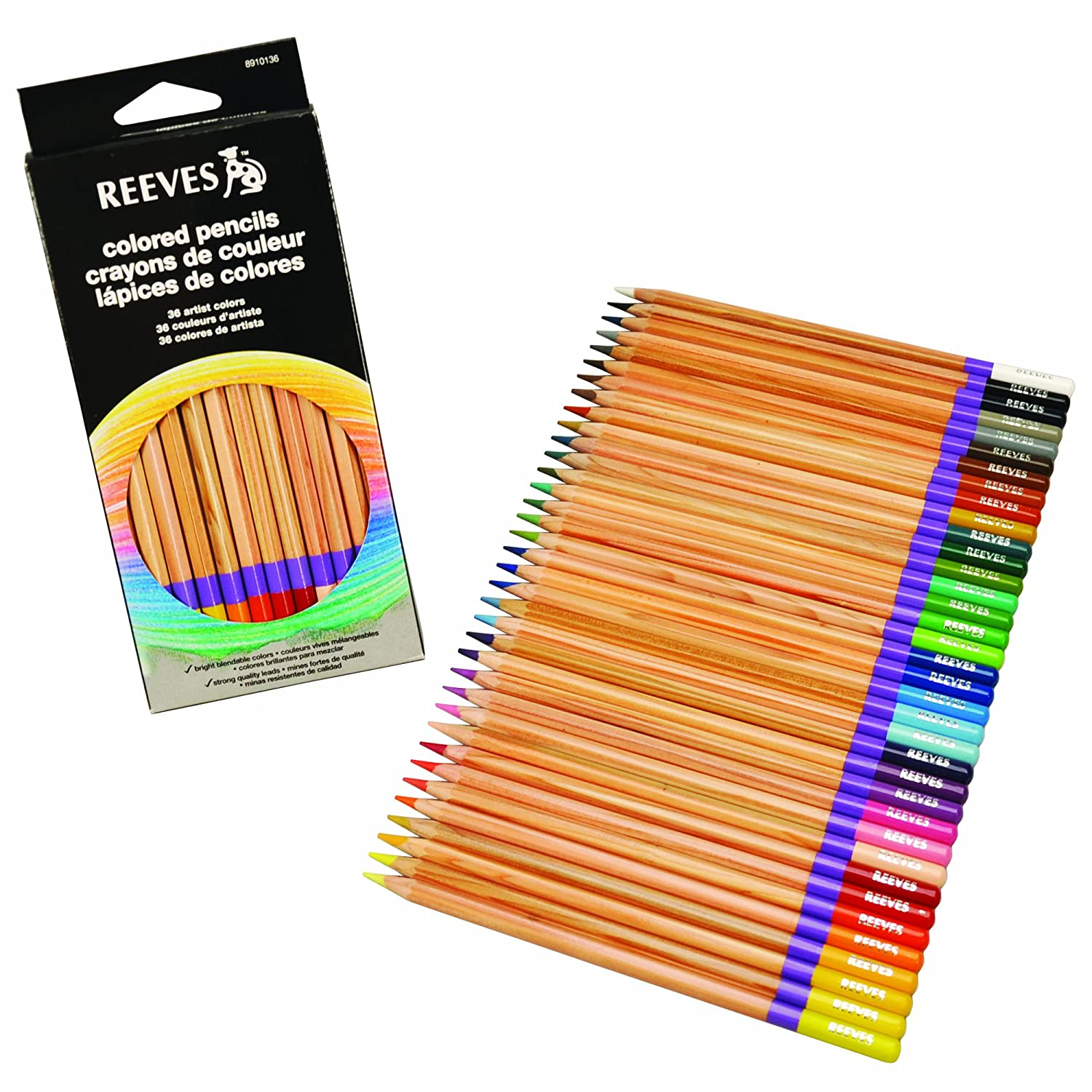 amazoncom reeves colored pencils set of 36 arts crafts sewing