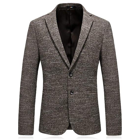 Otoño Invierno Espesar Mens Suit Chaquetas Blazer Blazer Clásico Elegante Fit Ropa Slim Traje De Boda Esmoquin N Hombres: Amazon.es: Ropa y accesorios