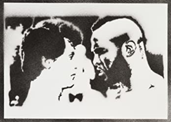 Poster Rocky Balboa E Mr T Handmade Graffiti Street Art - Artwork