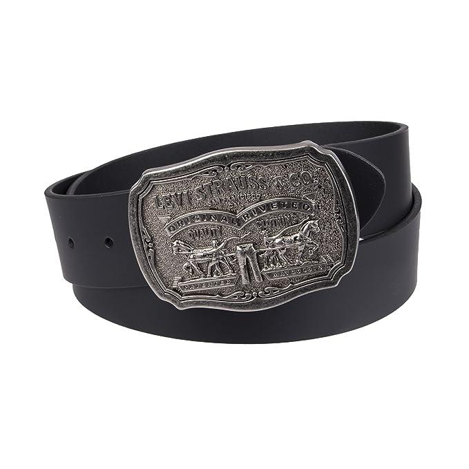 d20f2f3cb93 Levi  s Cinturón de piel para hombre con hebilla Antiqued  Amazon.es ...