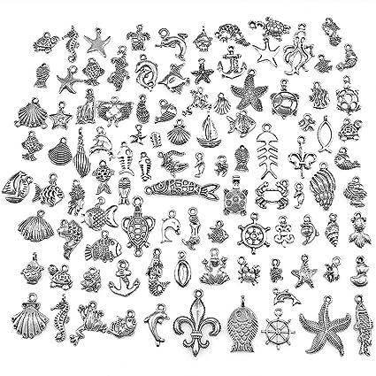 100pcs Bulk Lots Tibetan Silver Mix Pendants Charms Craft Jewelry Finding Making