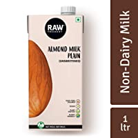 Raw Pressery 100% Natural Almond Milk Plain Unsweetened 1 LTR, Dairy-Free, Vegan, Low Calorie